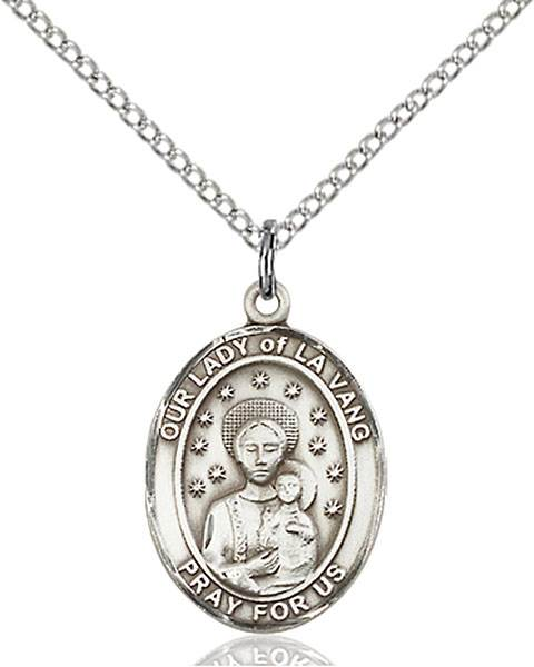 Our Lady Necklace Sterling Silver