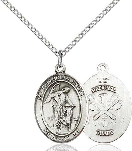 Guardian Angel / National Guard Pendant Guardian Angel / National Guard,Military,National Guard, sterling silver medals, gold filled medals, patron, saints, saint medal, saint pendant, saint necklace, 8118,7118 National Guard,9118 National Guard,