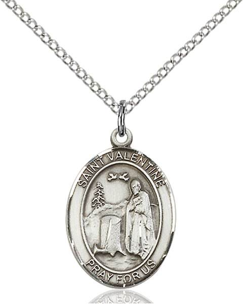St. Valentine of Rome Pendant St. Valentine Of Rome ,Love,Patron Saints,Patron Saints - V, sterling silver medals, gold filled medals, patron, saints, saint medal, saint pendant, saint necklace, 8121,7121,9121,7121SS,8121SS,9121SS,7121GF,8121GF,9121GF,