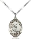 St. Pio Necklace Sterling Silver