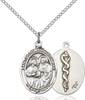 Sts. Cosmas and Damian Necklace Sterling Silver