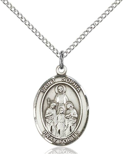 St. Sophia Necklace Sterling Silver
