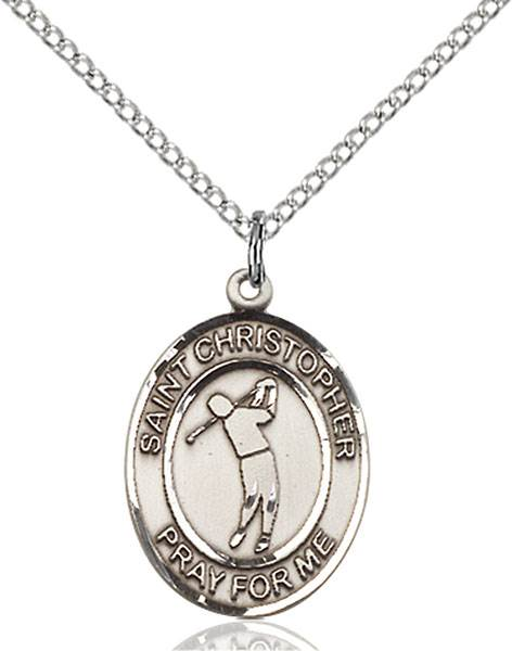 St. Christopher/Golf Pendant