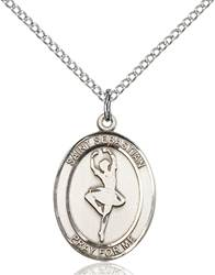 St. Sebastian/Dance Pendant St. Sebastian/Dance ,Athletes and Soldiers,Patron Sports,Dance, sterling silver medals, gold filled medals, patron, saints, saint medal, saint pendant, saint necklace, 8173,7173,9173,7173SS,8173SS,9173SS,7173GF,8173GF,9173GF,