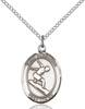 St. Sebastian/Surfing Pendant St. Sebastian/Surfing ,Athletes and Soldiers,Patron Sports,Surfing, sterling silver medals, gold filled medals, patron, saints, saint medal, saint pendant, saint necklace, 8175,7175,9175,7175SS,8175SS,9175SS,7175GF,8175GF,9175GF,