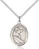St. Christopher/Surfing Pendant St. Christopher/Surfing ,Travelers and Motorists,Patron Sports,Surfing, sterling silver medals, gold filled medals, patron, saints, saint medal, saint pendant, saint necklace, 8184,7184,9184,7184SS,8184SS,9184SS,7184GF,8184GF,9184GF,