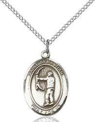 St. Sebastian / Archery Pendant St. Sebastian / Archery ,Athletes and Soldiers,Patron Sports,Archery, sterling silver medals, gold filled medals, patron, saints, saint medal, saint pendant, saint necklace, 8189,7189,9189,7189SS,8189SS,9189SS,7189GF,8189GF,9189GF,