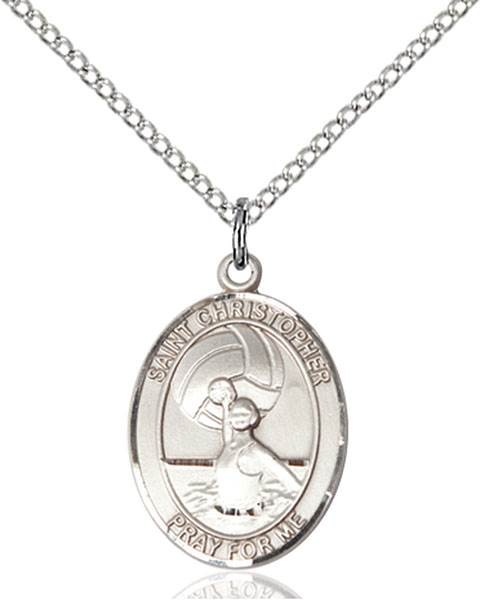 St. Christopher / Water Polo Women Pendant St. Christopher / Water Polo W ,Travelers and Motorists,Patron Sports,Water Polo-Wmn, sterling silver medals, gold filled medals, patron, saints, saint medal, saint pendant, saint necklace, 8199,7199,9199,7199SS,8199SS,9199SS,7199GF,8199GF,9199GF,