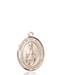 Virgen De Fatima Necklace Solid Gold