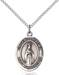 Virgen De Fatima Necklace Sterling Silver