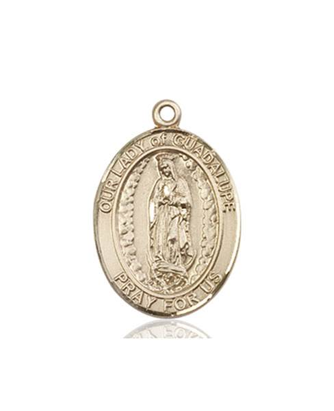 Our Lady of Guadalupe Necklace Solid Gold