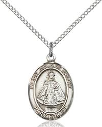Infant of Prague Pendant Infant Of Prague ,Children and Schools,Unusual & Specialty,INFANT of PRAGUE, sterling silver medals, gold filled medals, patron, saints, saint medal, saint pendant, saint necklace, 8207,7207,9207,7207SS,8207SS,9207SS,7207GF,8207GF,9207GF,