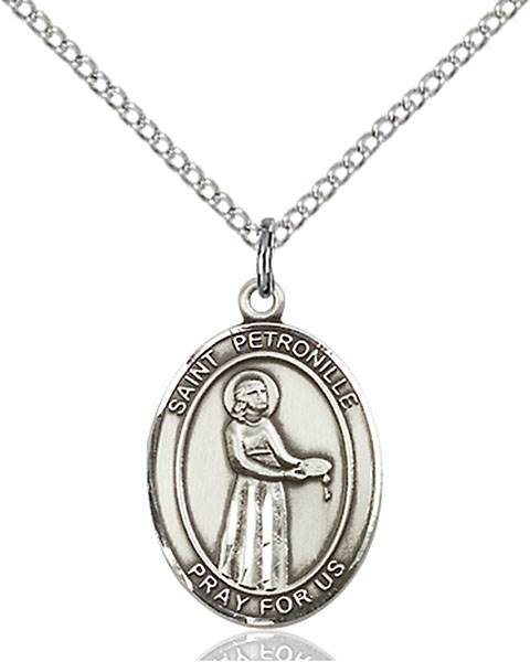 St. Petronille Pendant St. Petronille ,Fevers and Mountaineers,Patron Saints,Patron Saints - P, sterling silver medals, gold filled medals, patron, saints, saint medal, saint pendant, saint necklace, 8209,7209,9209,7209SS,8209SS,9209SS,7209GF,8209GF,9209GF,