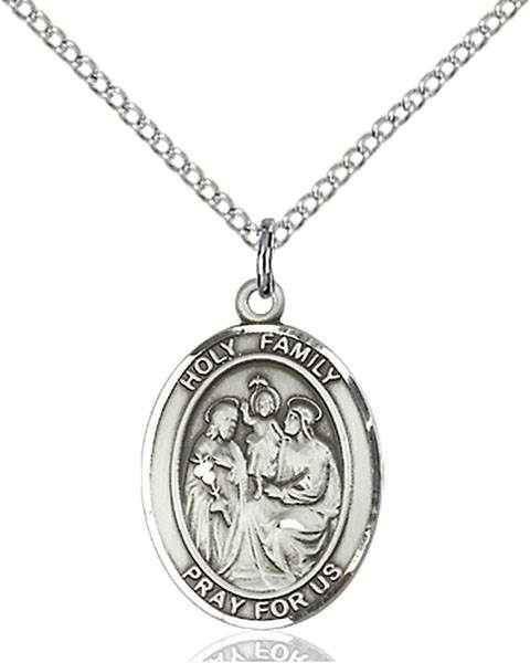 Holy Family Pendant Holy Family,Unusual & Specialty,HOLY FAMILY, sterling silver medals, gold filled medals, patron, saints, saint medal, saint pendant, saint necklace, 8218,7218,9218,7218SS,8218SS,9218SS,7218GF,8218GF,9218GF,