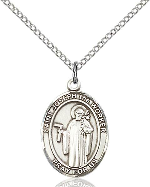 St. Joseph Patron Saint Necklace Sterling Silver