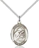 St. Aloysius Patron Saint Necklace Sterling Silver