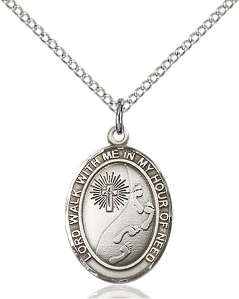 Footprints Necklace Sterling Silver