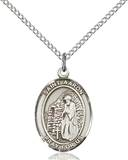 St. Aaron Necklace Sterling Silver