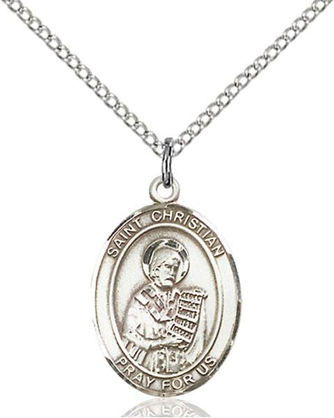 St. Christian Necklace Sterling Silver