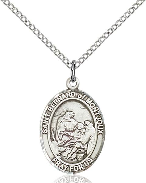 St. Bernard of Montjoux Pendant St. Bernard Of Montjoux ,Skiers and Mountain Climbers,Patron Saints,Patron Saints - B, sterling silver medals, gold filled medals, patron, saints, saint medal, saint pendant, saint necklace, 8264,7264,9264,7264SS,8264SS,9264SS,7264GF,8264GF,9264GF,