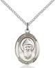 St. Sharbel Necklace Sterling Silver