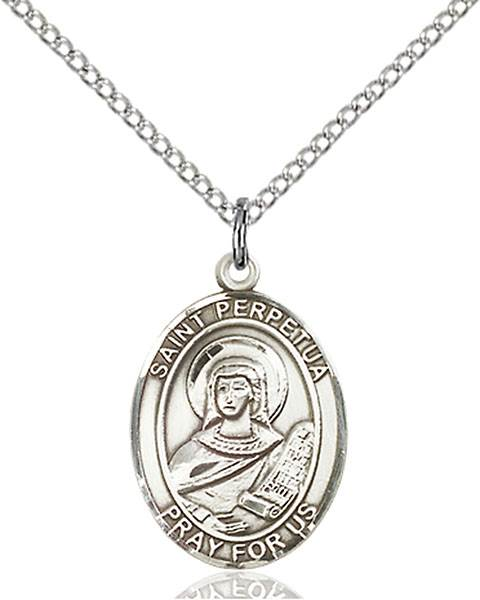 St. Perpetua Pendant St. Perpetua ,Martyrs and Cattle,Patron Saints,Patron Saints - P, sterling silver medals, gold filled medals, patron, saints, saint medal, saint pendant, saint necklace, 8272,7272,9272,7272SS,8272SS,9272SS,7272GF,8272GF,9272GF,
