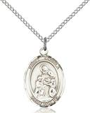 St. Angela Necklace Sterling Silver