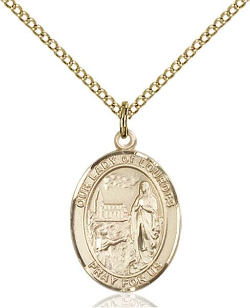 Our Lady of Lourdes Necklace Sterling Silver