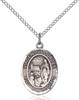 Virgen De Lourdes Necklace Sterling Silver