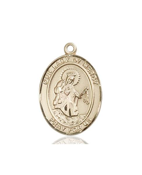 Our Lady of Mercy Necklace Solid Gold
