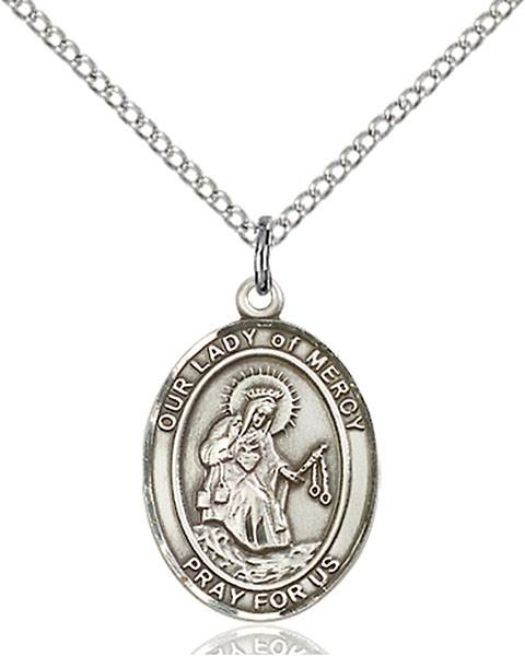 Our Lady of Mercy Necklace Sterling Silver