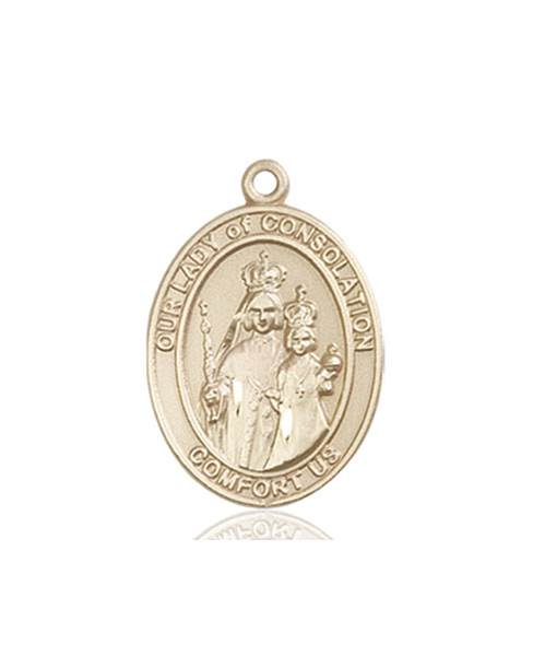 Our Lady of Consolation Necklace Solid Gold