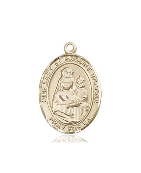 Our Lady of Prompt Succor Necklace Solid Gold