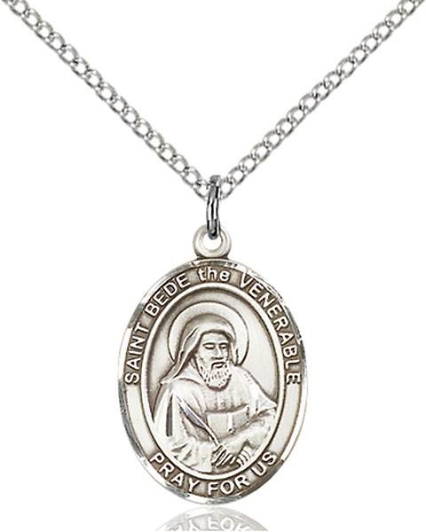 St. Bede The Venerable Pendant St. Bede The Venerable ,Lectors,Patron Saints,Patron Saints - B, sterling silver medals, gold filled medals, patron, saints, saint medal, saint pendant, saint necklace, 8302,7302,9302,7302SS,8302SS,9302SS,7302GF,8302GF,9302GF,