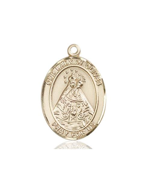 Our Lady of Olives Necklace Solid Gold