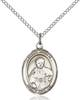 St. Pius X Necklace Sterling Silver