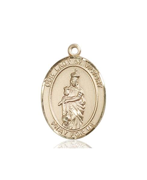 Our Lady of Victory Necklace Solid Gold