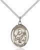 St. Meinrad of Einsideln Pendant St. Meinrad Of Einsideln ,Switzerland and Hospitality,Patron Saints,Patron Saints - M, sterling silver medals, gold filled medals, patron, saints, saint medal, saint pendant, saint necklace, 8307,7307,9307,7307SS,8307SS,9307SS,7307GF,8307GF,9307GF,