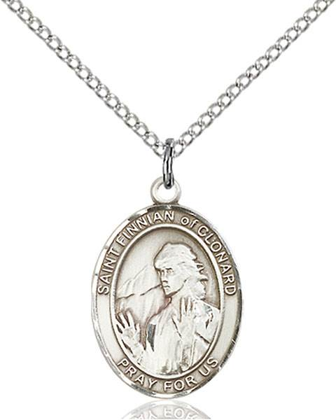 St. Finnian of Clonard Pendant St. Finnian Of Clonard ,Teaching and Sharing,Patron Saints,Patron Saints - F, sterling silver medals, gold filled medals, patron, saints, saint medal, saint pendant, saint necklace, 8308,7308,9308,7308SS,8308SS,9308SS,7308GF,8308GF,9308GF,