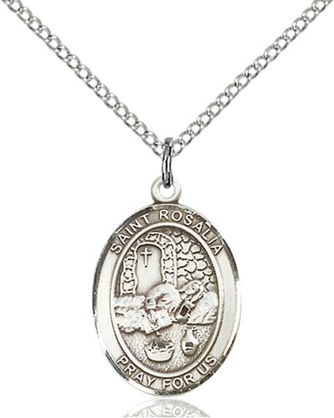 St. Rosalia Necklace Sterling Silver