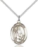St. Amelia Necklace Sterling Silver
