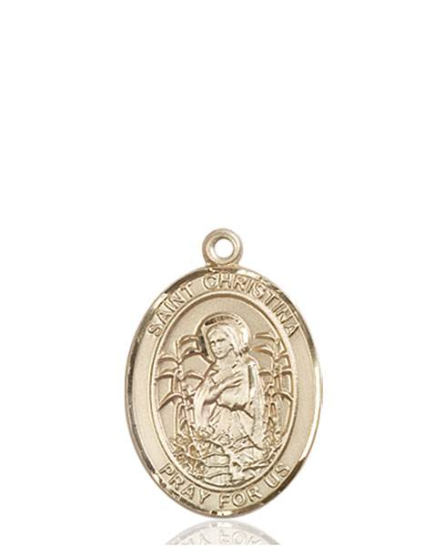 St. Christina Necklace Solid Gold
