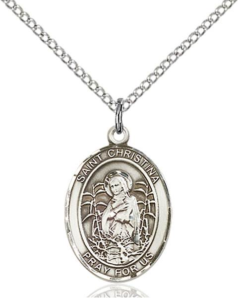 St. Christina Necklace Sterling Silver