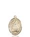 St. Edburga of Winchester Necklace Solid Gold