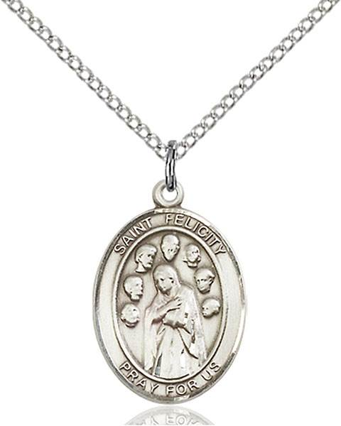 St. Felicity Pendant St. Felicity ,Death of Children,Patron Saints,Patron Saints - F, sterling silver medals, gold filled medals, patron, saints, saint medal, saint pendant, saint necklace, 8341,7341,9341,7341SS,8341SS,9341SS,7341GF,8341GF,9341GF,