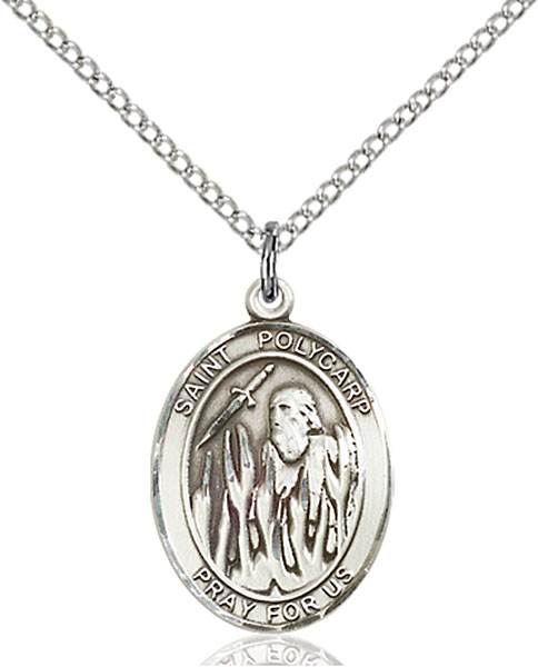 St. Polycarp of Smyrna Pendant St. Polycarp Of Smyrna ,Dysentery and Against Earache,Patron Saints,Patron Saints - P, sterling silver medals, gold filled medals, patron, saints, saint medal, saint pendant, saint necklace, 8363,7363,9363,7363SS,8363SS,9363SS,7363GF,8363GF,9363GF,
