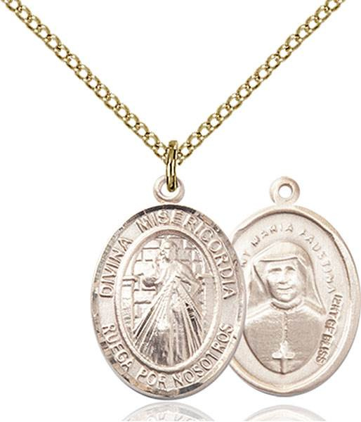 Divina Misericordia Necklace Sterling Silver
