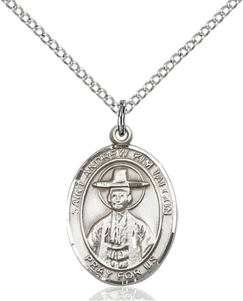 St. Andrew Kim Taegon Pendant St. Andrew Kim Taegon ,Korean Clergy,Patron Saints,Patron Saints - A, sterling silver medals, gold filled medals, patron, saints, saint medal, saint pendant, saint necklace, 8373,7373,9373,7373SS,8373SS,9373SS,7373GF,8373GF,9373GF,