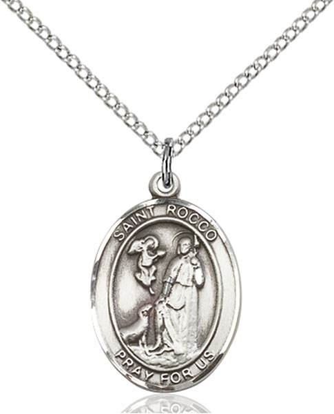 St. Rocco Necklace Sterling Silver