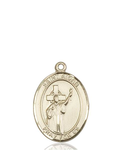 St. Aidan Necklace Solid Gold